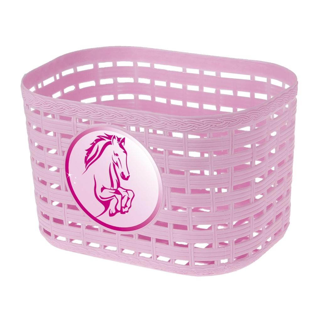 Detský predný košík plast ružová