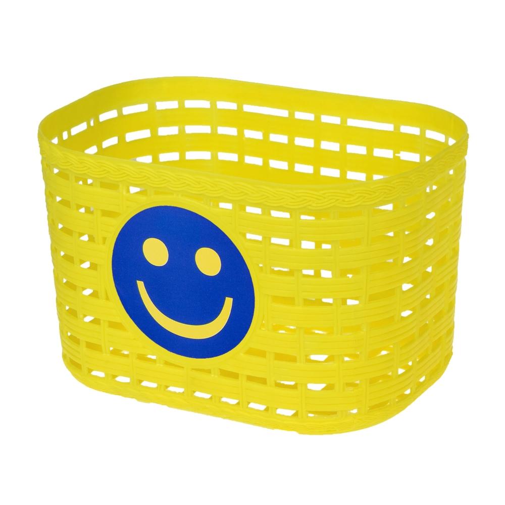 Detský predný košík plast žltá