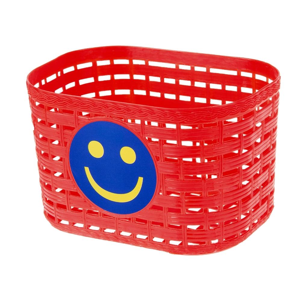 Detský predný košík plast červená
