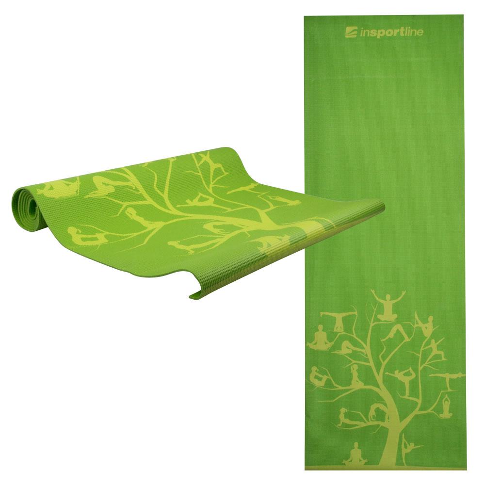 Podložka na jógu inSPORTline Spirit zelená