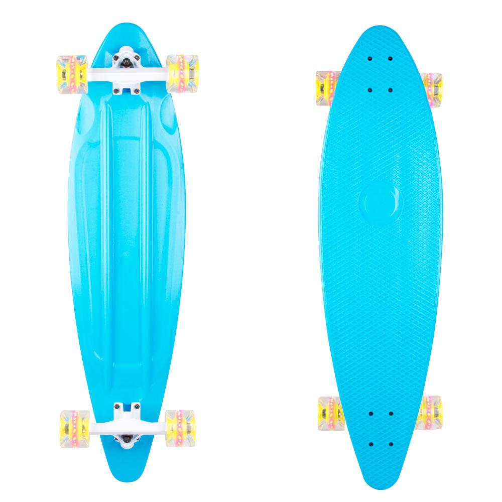 """Plastový longboard WORKER Pike 36"""" so svietiacimi kolieskami modrá"""