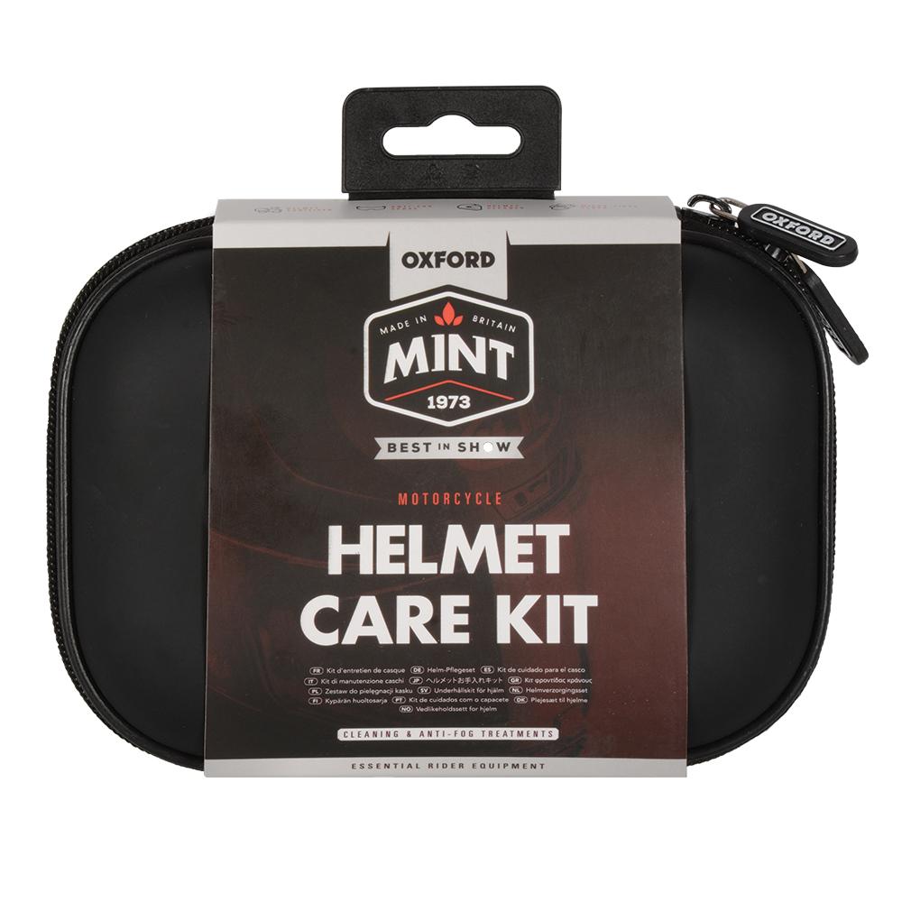 Sada prostriedkov na čistenie prilieb a plexi Mint Helmet Care Kit
