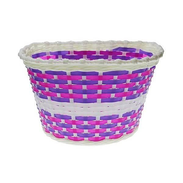 Detský predný košík Nexelo bielo-fialový