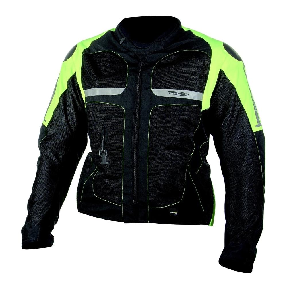 Letná airbagová bunda Helite Vented Hivis zeleno-žltá - M