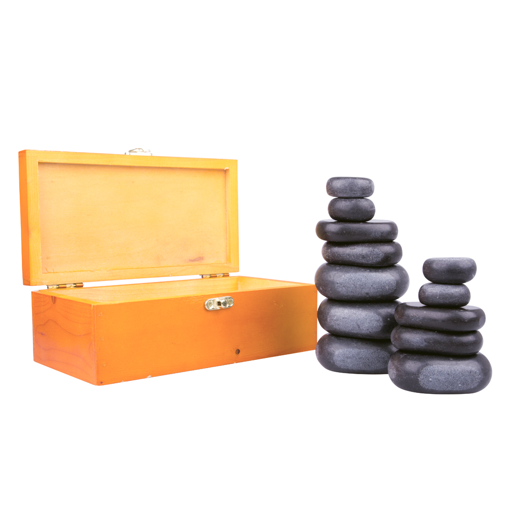 Lávové kamene inSPORTline Basalt Stone - 12 ks