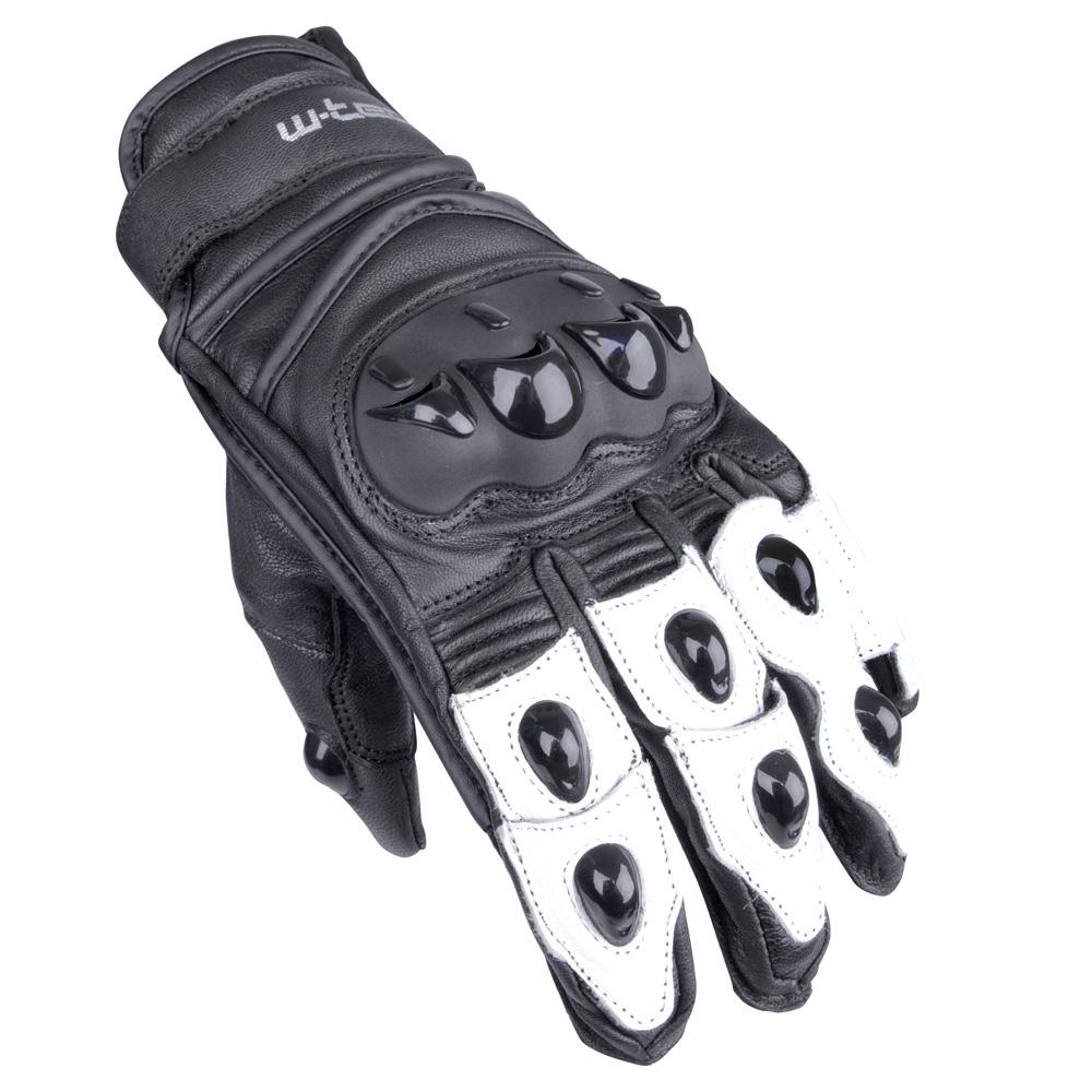Moto rukavice W-TEC Radoon čierno-biela - M