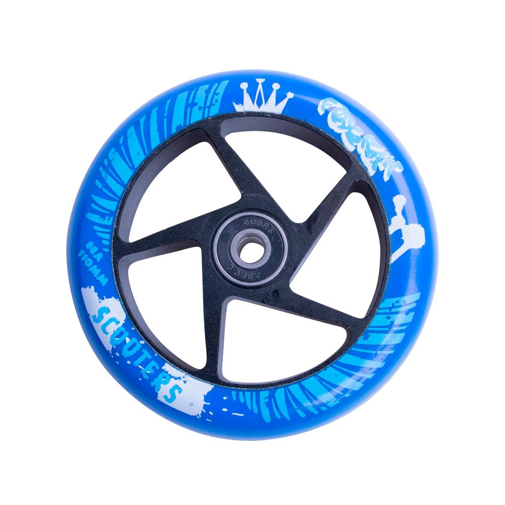 Náhradné koliesko pre kolobežku FOX PRO Raw 110 mm modro-čierna