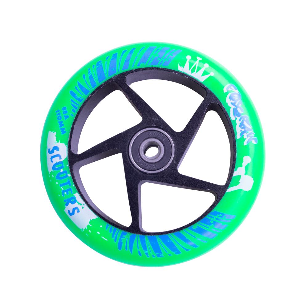 Náhradné koliesko pre kolobežku FOX PRO Raw 110 mm zeleno-čierna