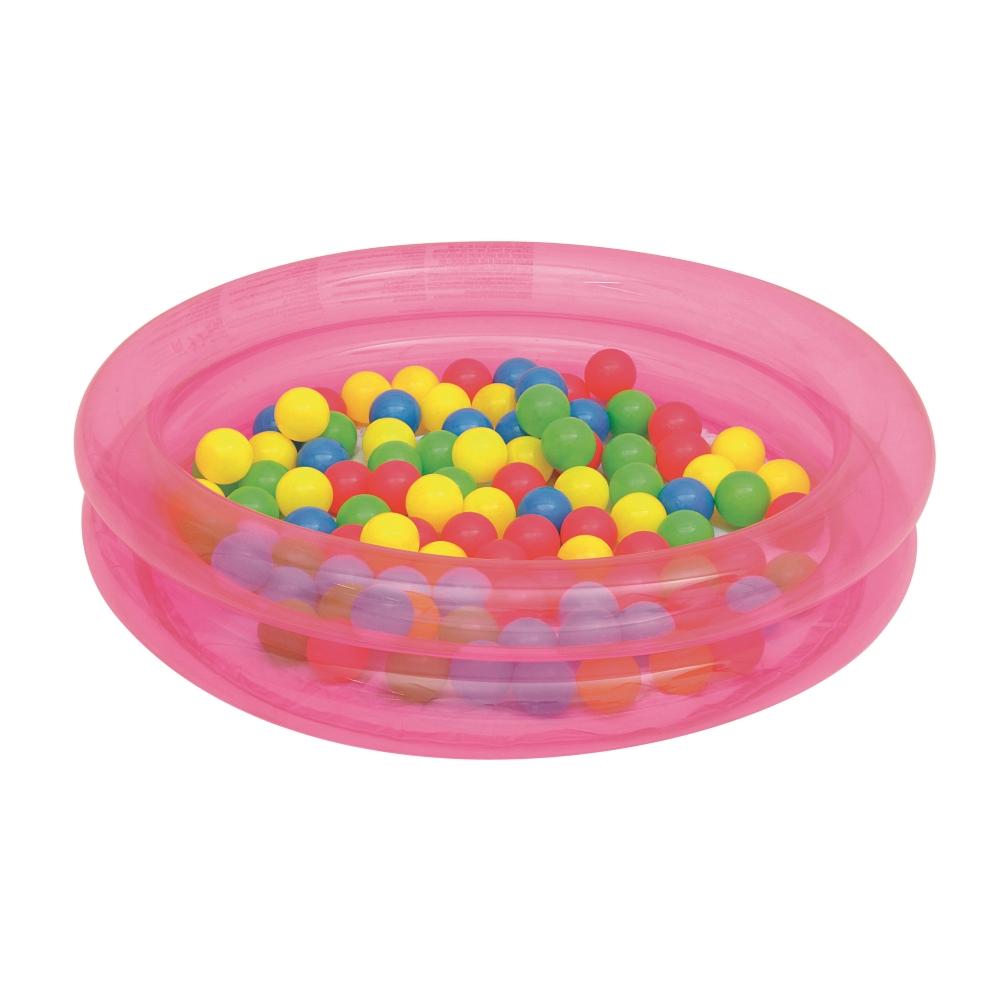 Bazén s loptičkami Bestway 2-Ring Ball Pool 91 cm ružová