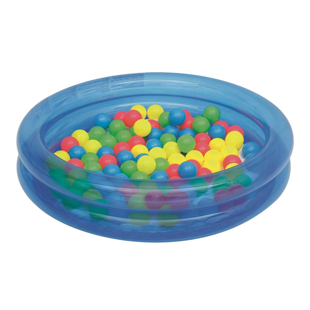 Bazén s loptičkami Bestway 2-Ring Ball Pool 91 cm modrá