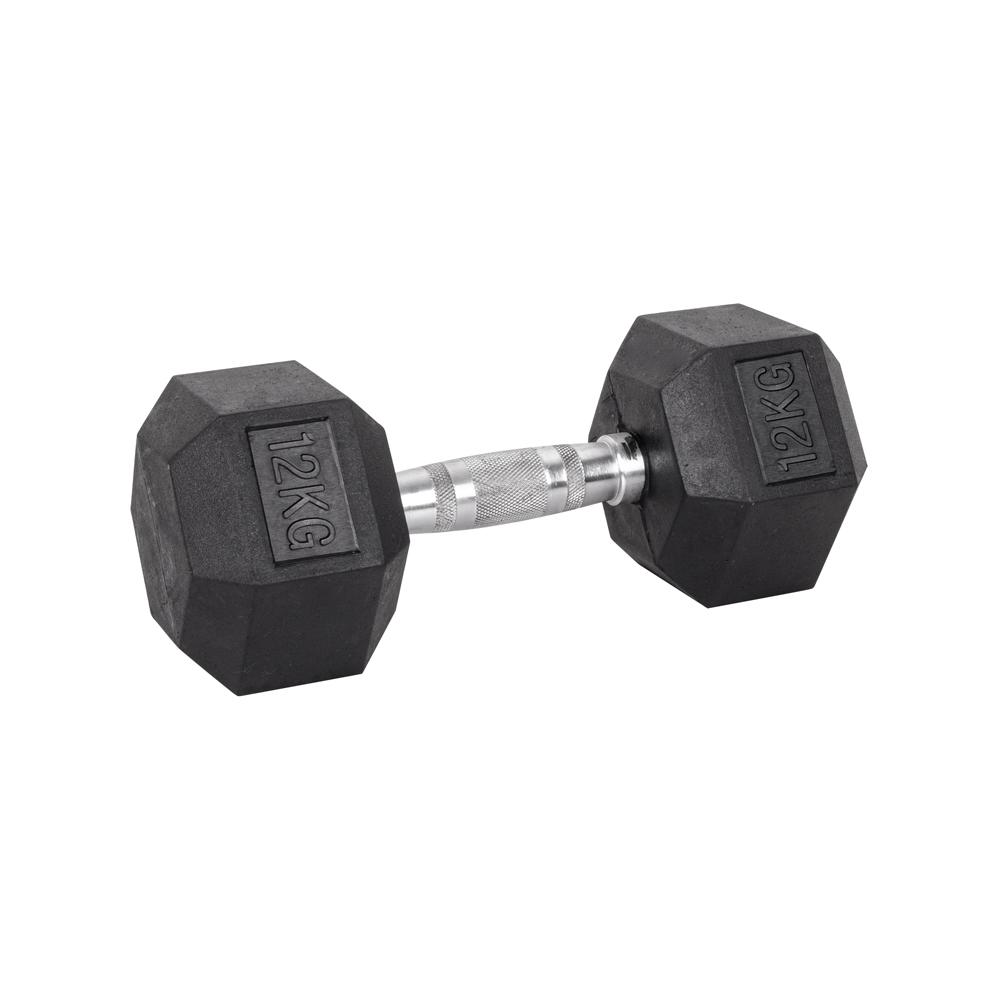 Šesťhranná činka inSPORTline Hexsteel 12 kg