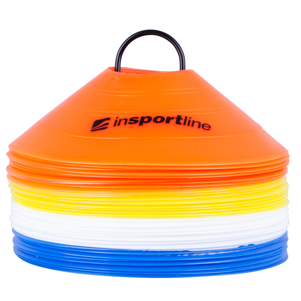 Plastové tréningové kužele inSPORTline B40 5cm
