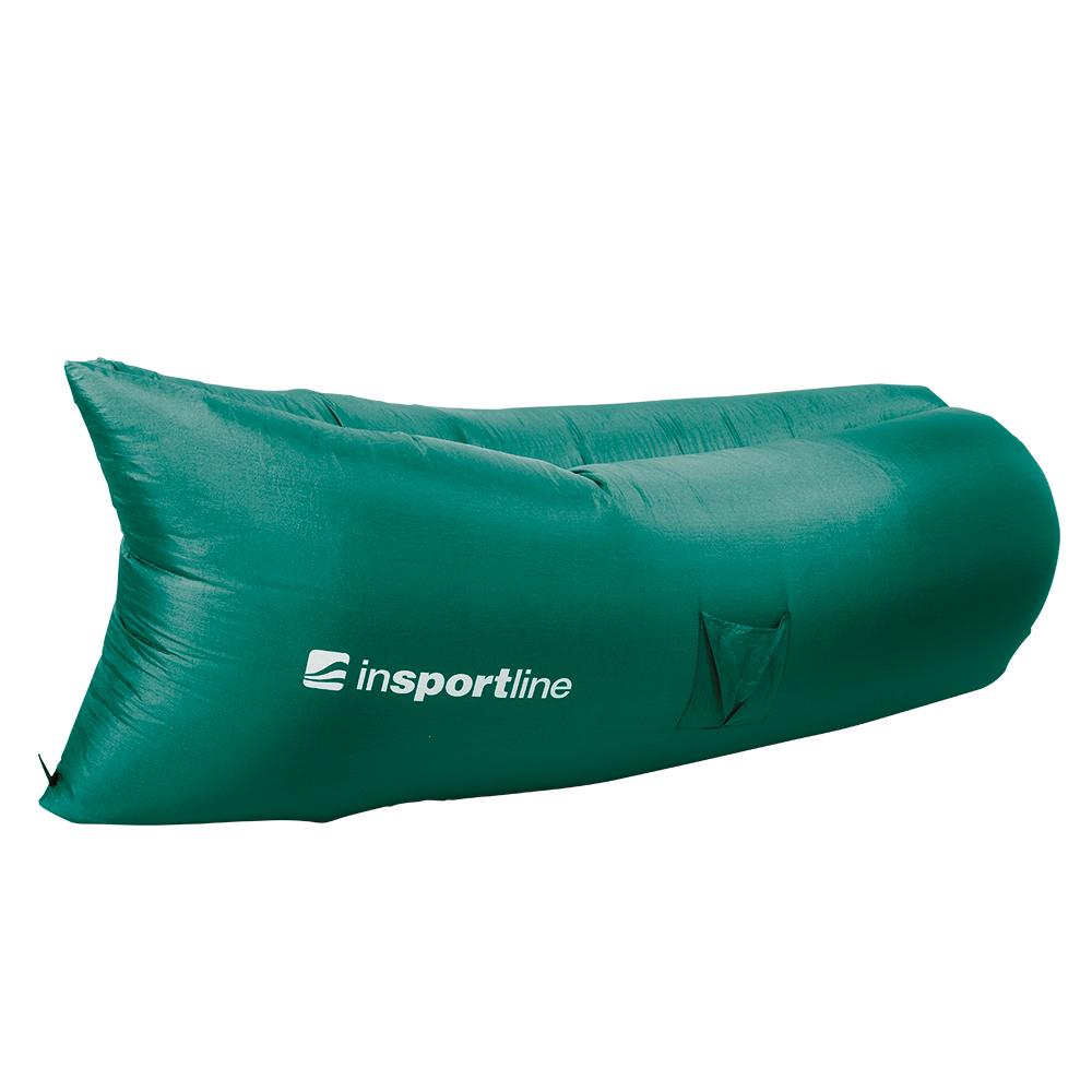 Nafukovací sedací vak inSPORTline Sofair tmavo zelená
