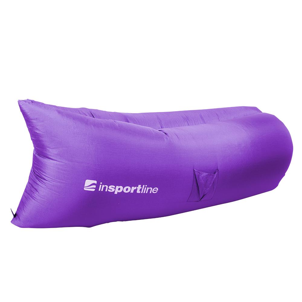 Nafukovací sedací vak inSPORTline Sofair fialová
