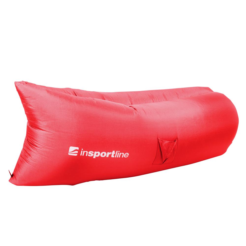 Nafukovací sedací vak inSPORTline Sofair červená
