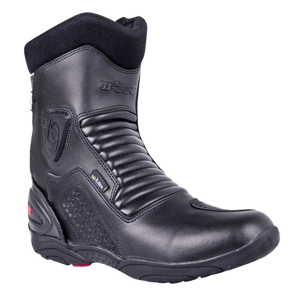 Kožené moto topánky W-TEC Benkoff NF-6052 čierna - 40