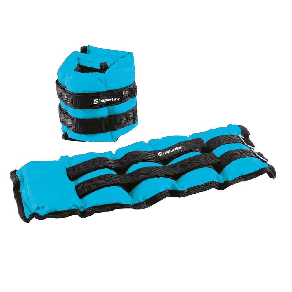 Nastaviteľné závažie na členok a zápästie inSPORTline BlueWeight 2x2 kg