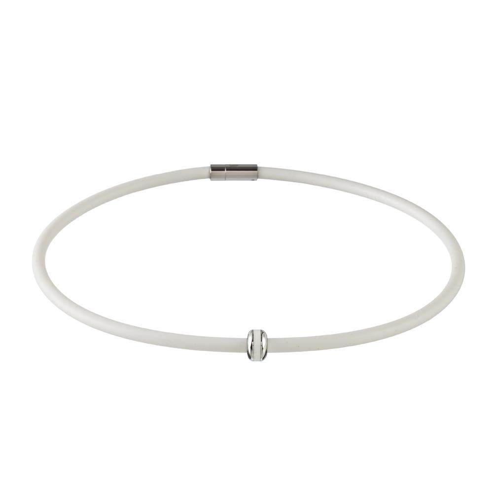 Magnetický náhrdelník inSPORTline Mely 52 cm - biela