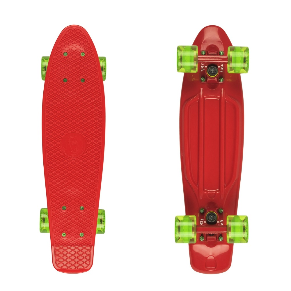 Pennyboard Fish Classic 22 Red-Red-Transparent Green