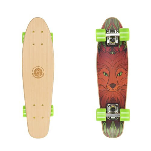 "Drevený pennyboard Fish Classic Wood 22"" Red fox"