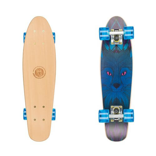 "Drevený pennyboard Fish Classic Wood 22"" Blue fox"