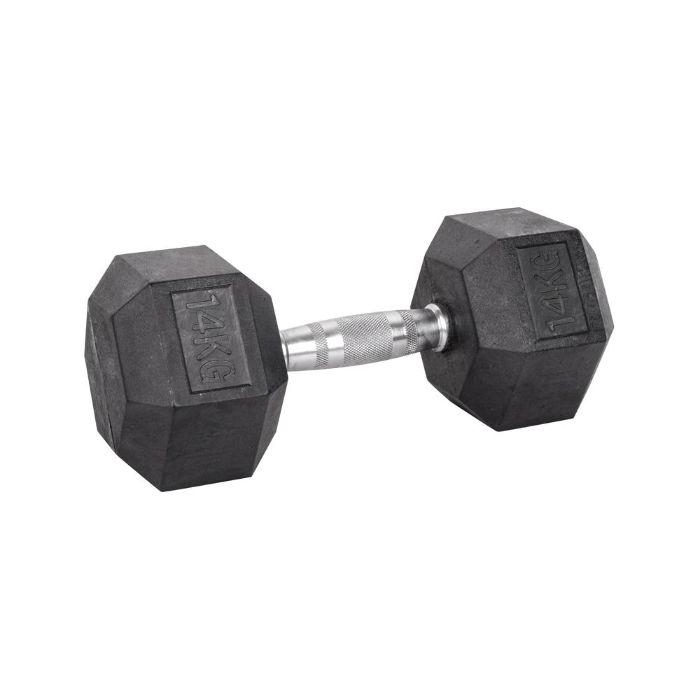 Šesťhranná činka inSPORTline Hexsteel 14 kg