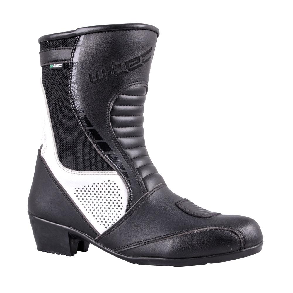 e3ee1c16d484 Dámske kožené moto topánky W-TEC Beckie W-5036 čierno-biela - 36