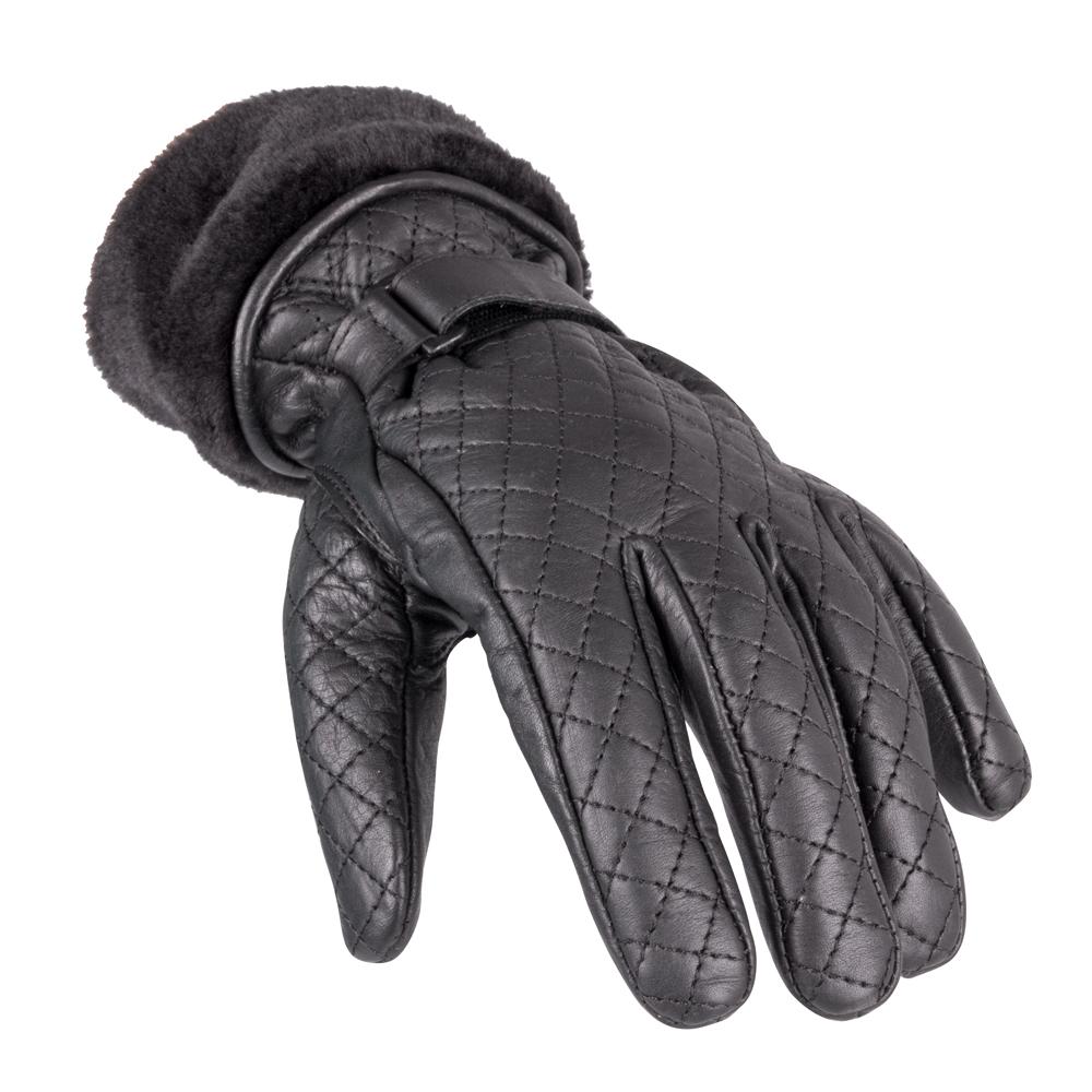 Dámske kožené rukavice W-TEC Stolfa NF-4205 čierna - XXL