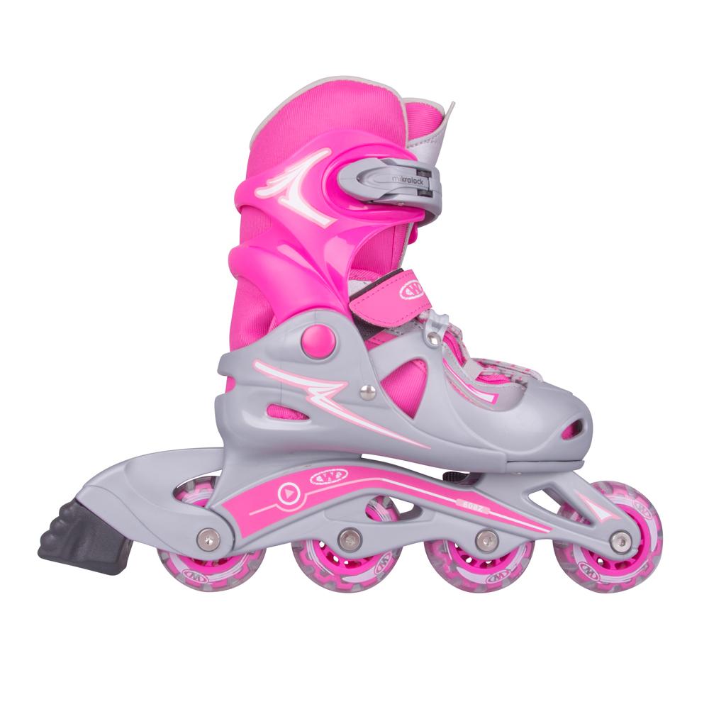 Nastaviteľné korčule WORKER Juny Girl ružová - S 30-33