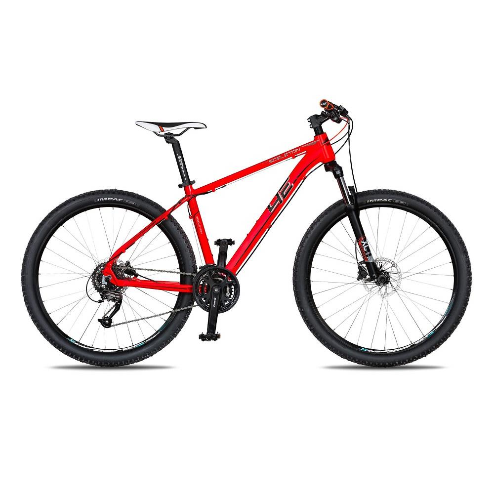 """Horský bicykel 4EVER Sceleton 27,5"""" - model 2018 červená - 19"""" - Záruka 10 rokov"""