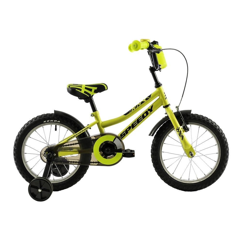 "Detský bicykel DHS Speedy 1601 16"" - model 2018 Yellow - Záruka 10 rokov"