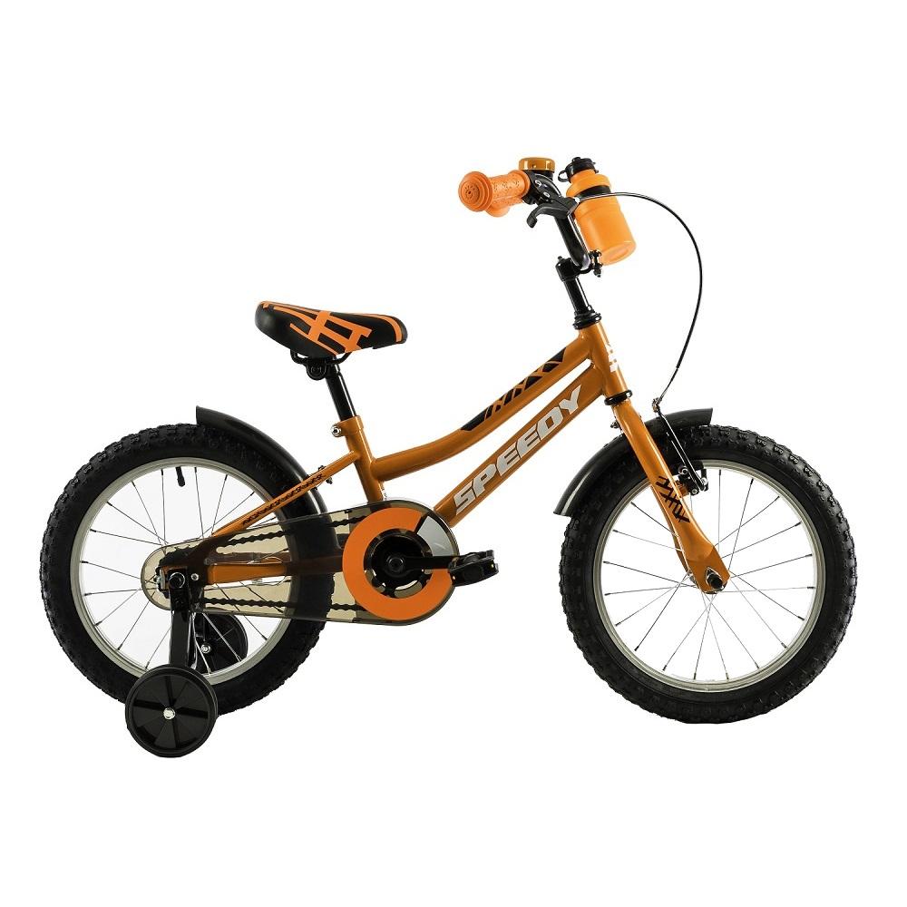 "Detský bicykel DHS Speedy 1601 16"" - model 2018 Orange - Záruka 10 rokov"