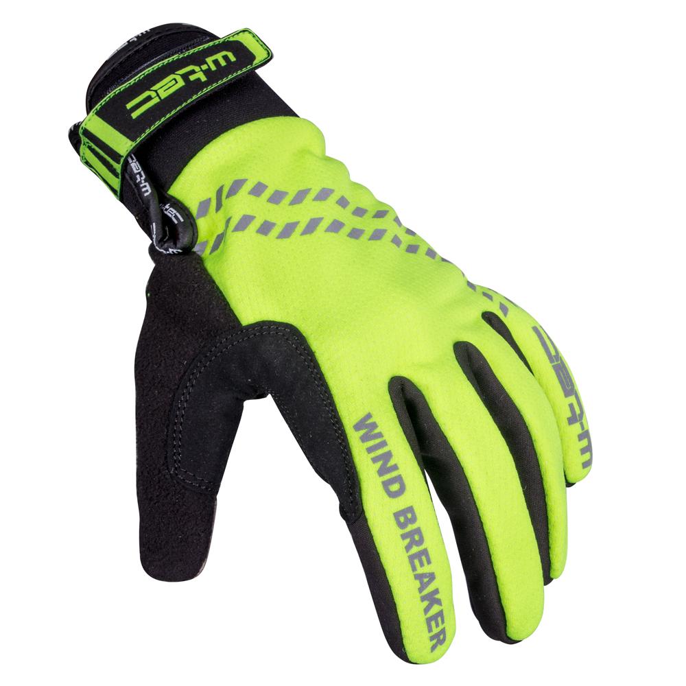 Zimné cyklo a bežecké rukavice W-TEC Trulant B-6013 žltá - XS