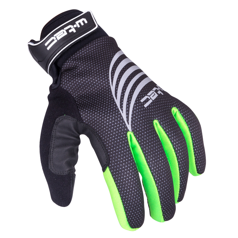 Športové zimné rukavice W-TEC Grutch AMC-1040-17 čierno-zelená - S