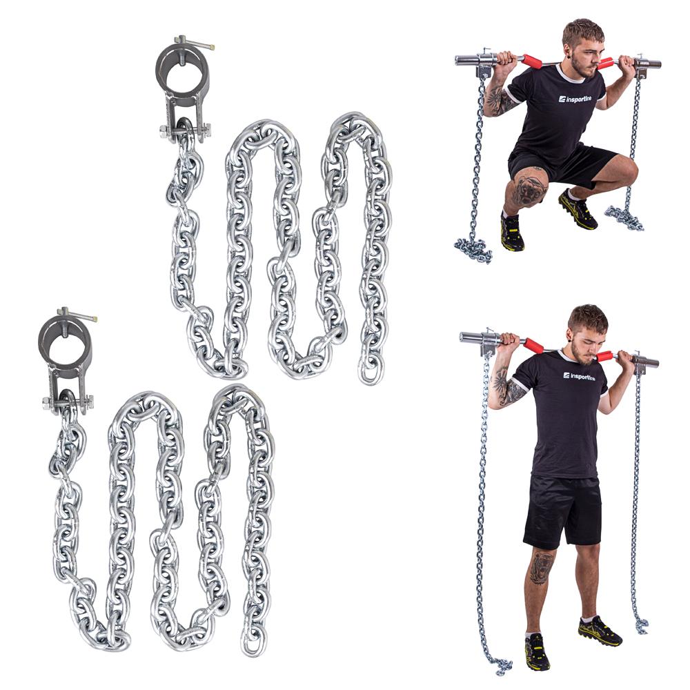 Vzpieračské reťaze inSPORTline Chainbos 2x10 kg