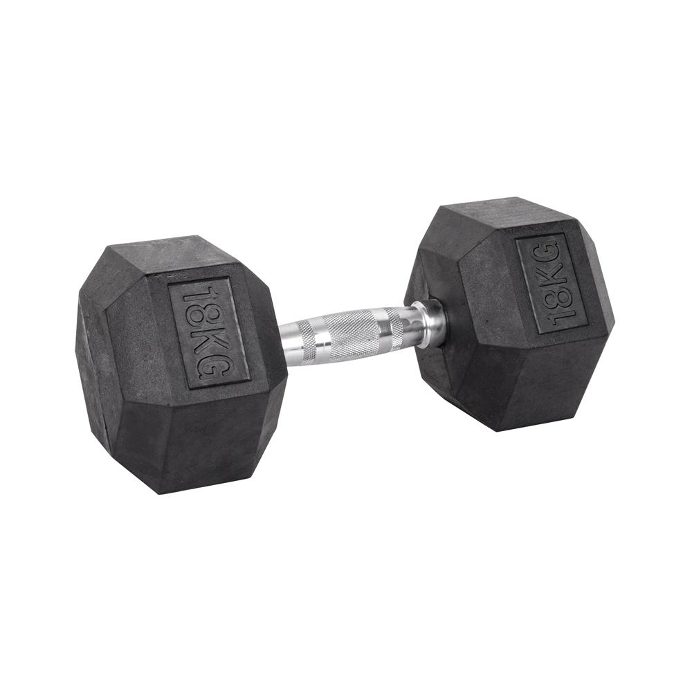 Šesťhranná činka inSPORTline Hexsteel 18 kg