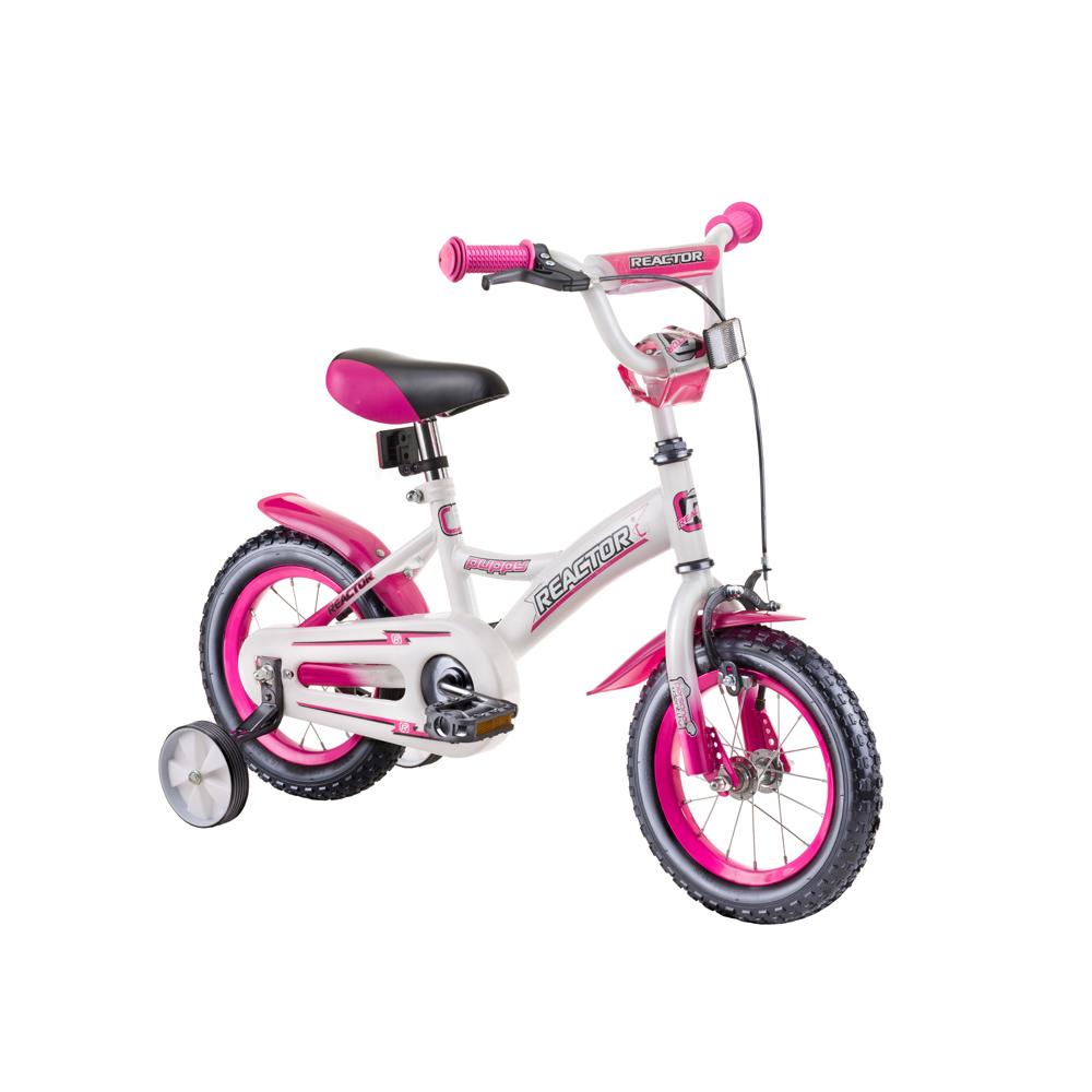 "Detský bicykel Reactor Puppy 12"" - model 2019 White-Pink"