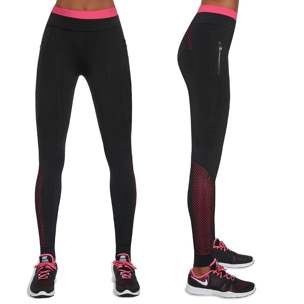 Dámske športové legíny BAS BLACK Inspire čierno-ružová - L