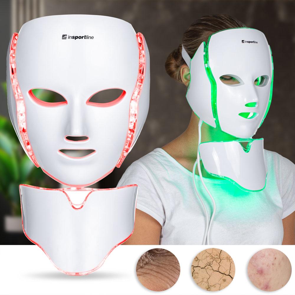 Ošetrujúca LED maska na tvár a krk inSPORTline Hilmana