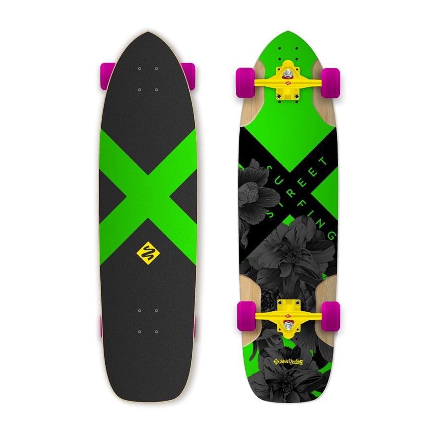 """Longboard Street Surfing Freeride Electrica 36"""""""