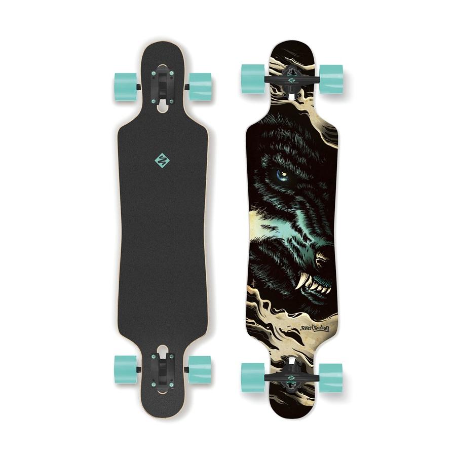 """Longboard Street Surfing Freeride - Curve Wolf 39"""""""