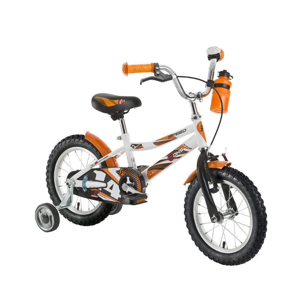 """Detský bicykel DHS Speed 1401 14"""" - model 2016 White - Záruka 10 rokov"""