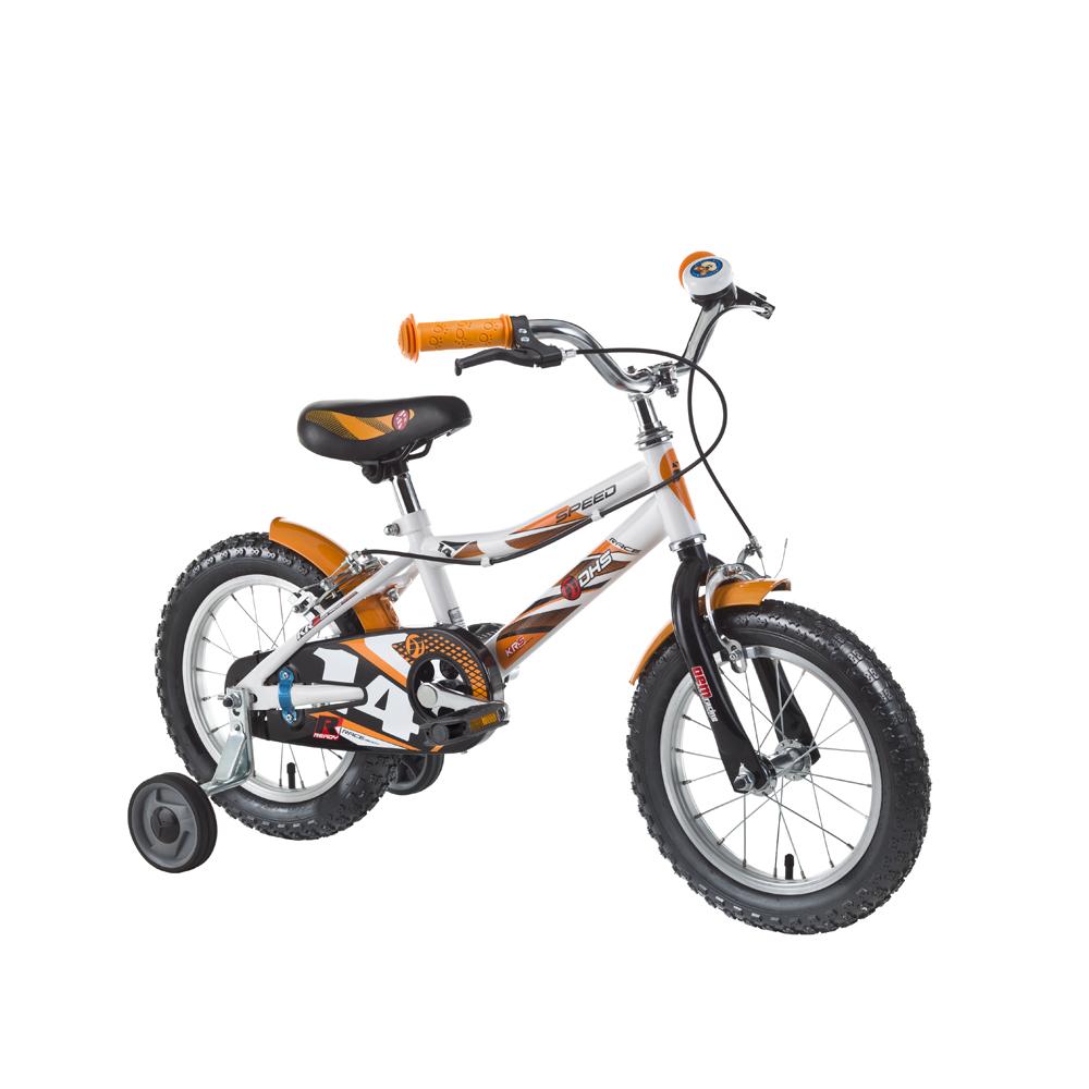 """Detský bicykel DHS Speed 1403 14"""" - model 2016 White - Záruka 10 rokov"""