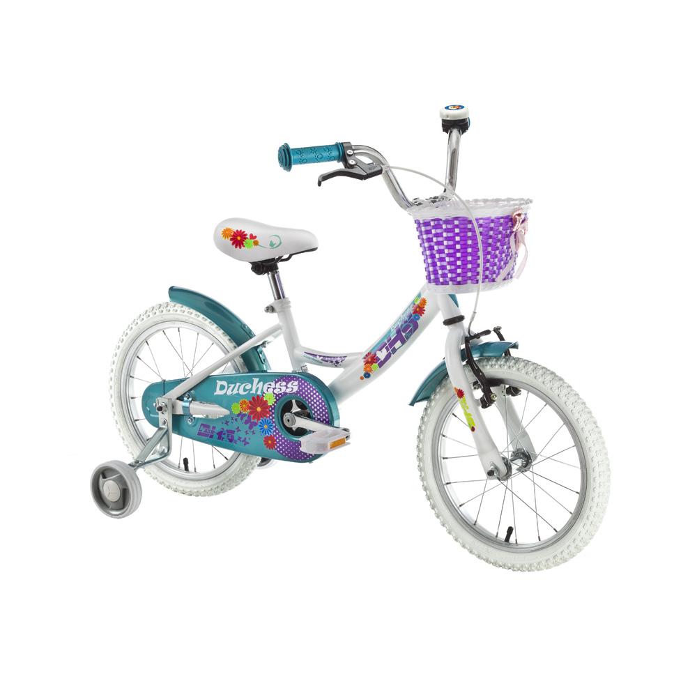 """Detský bicykel DHS Duchess 1602 16"""" - model 2016 White - Záruka 10 rokov"""