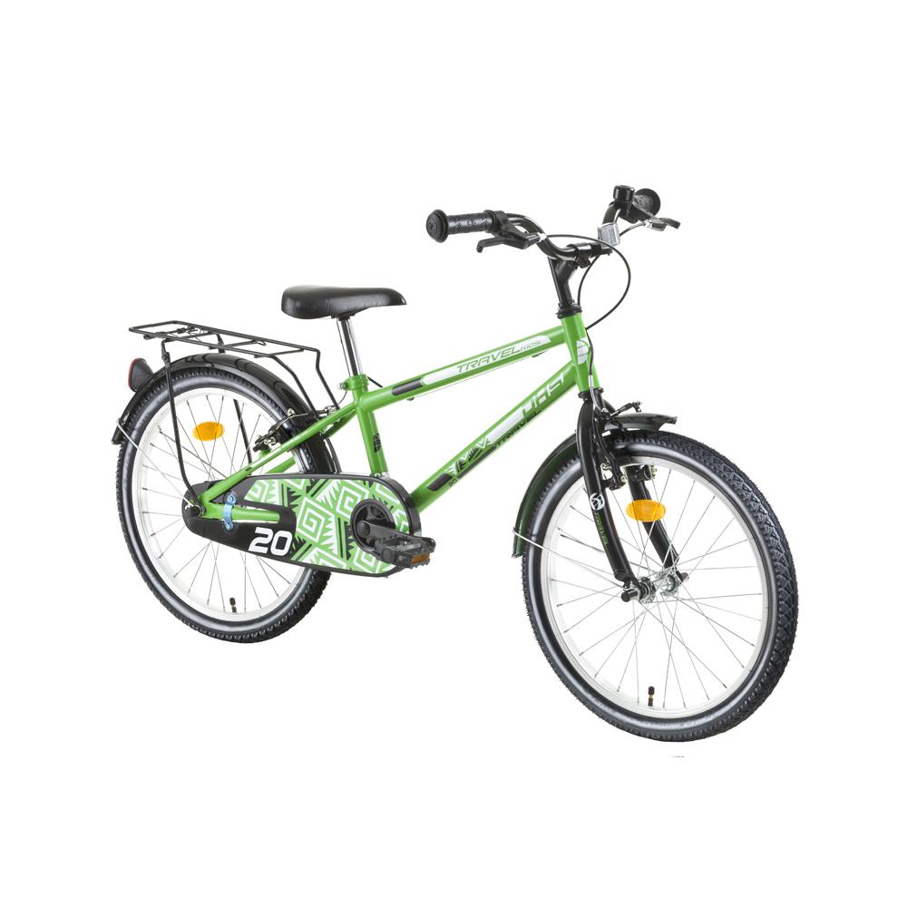 "Detský bicykel DHS Travel 2003 20"" - model 2016 Green - Záruka 10 rokov"