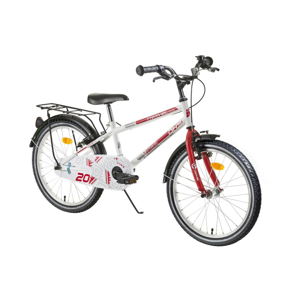 """Detský bicykel DHS Travel 2003 20"""" - model 2016 White - Záruka 10 rokov"""