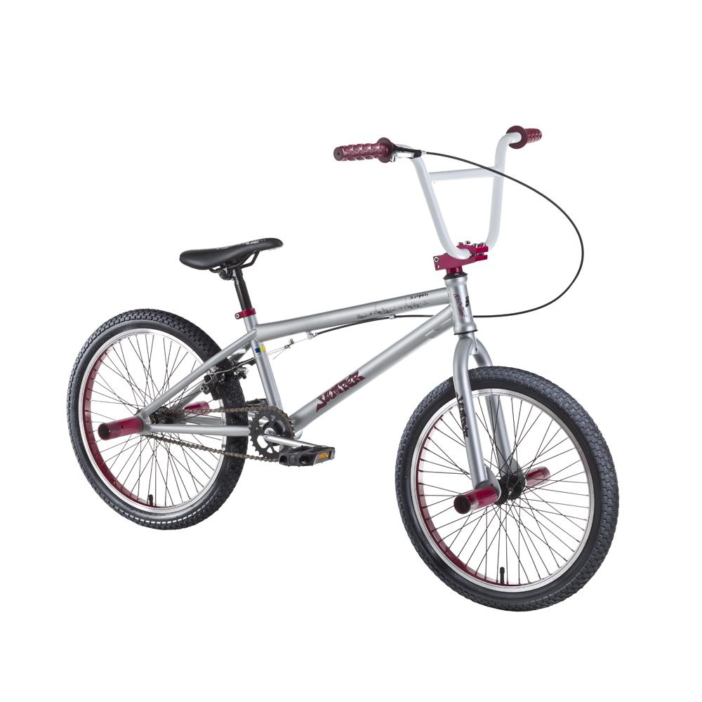 "Freestylový bicykel DHS Jumper 2005 20"" - model 2016 Gray-Red - Záruka 10 rokov"