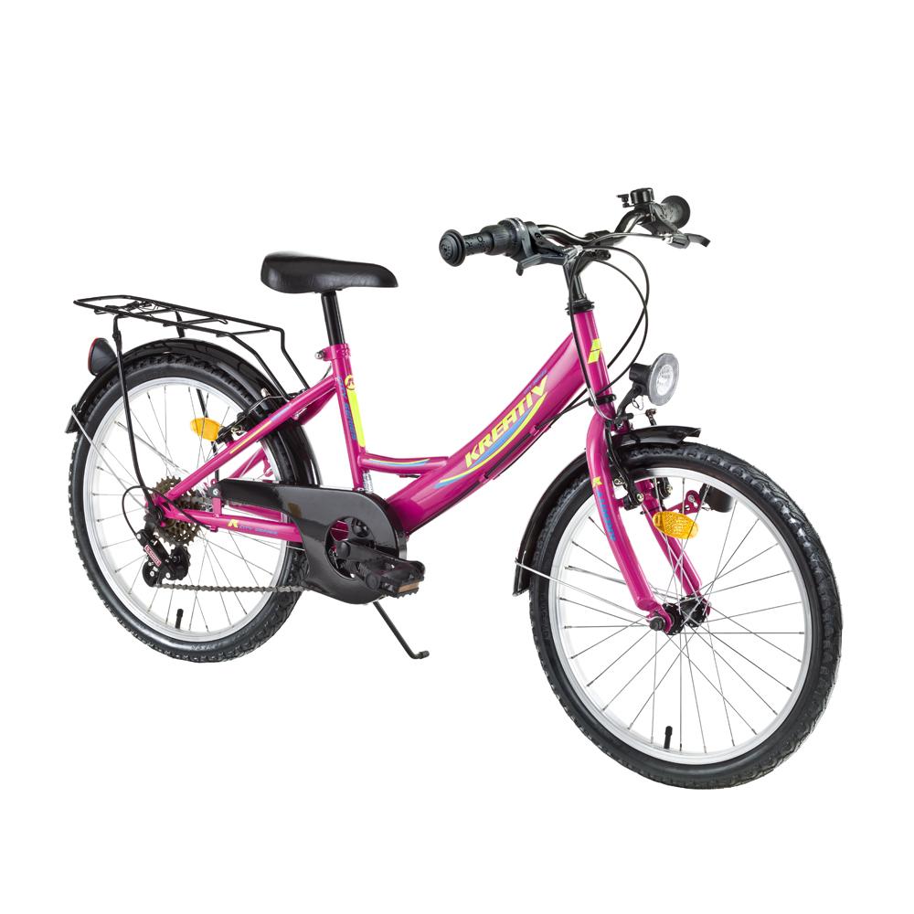 "Juniorský bicykel Kreativ 2414 24"" - model 2019 Pink - Záruka 10 rokov"