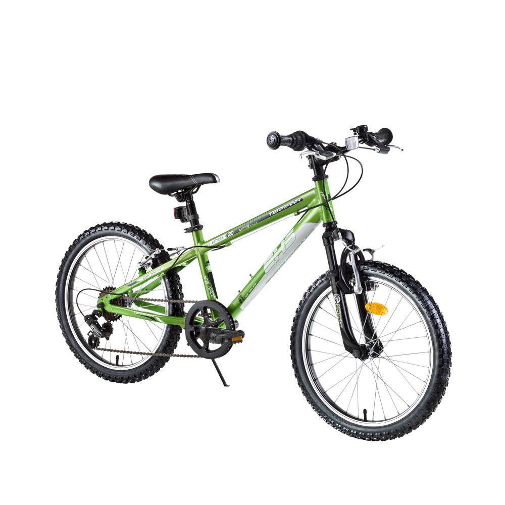 "Detský bicykel DHS Terrana 2023 20"" - model 2016 Green - Záruka 10 rokov"