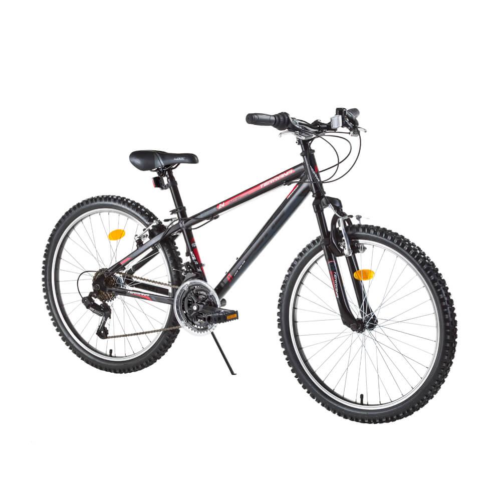 """Juniorský horský bicykel DHS Terrana 2423 24"""" - model 2017 Black - Záruka 10 rokov"""
